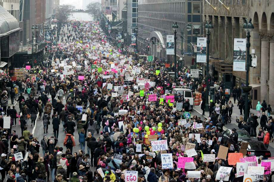 Image result for images of women's march in San Francisco on Jan. 21, 2017