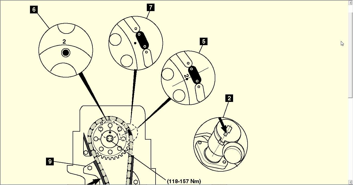 Diagrama De Cadena De Tiempo Motor 24 12v Nissan Pick Up