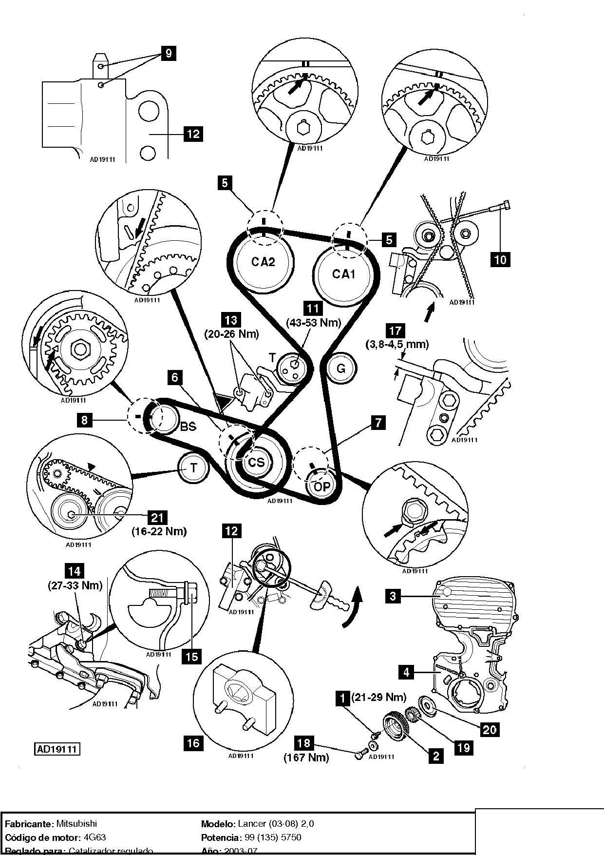 Como Sincronizar Motor 2 0 Mitsubishi Lancer