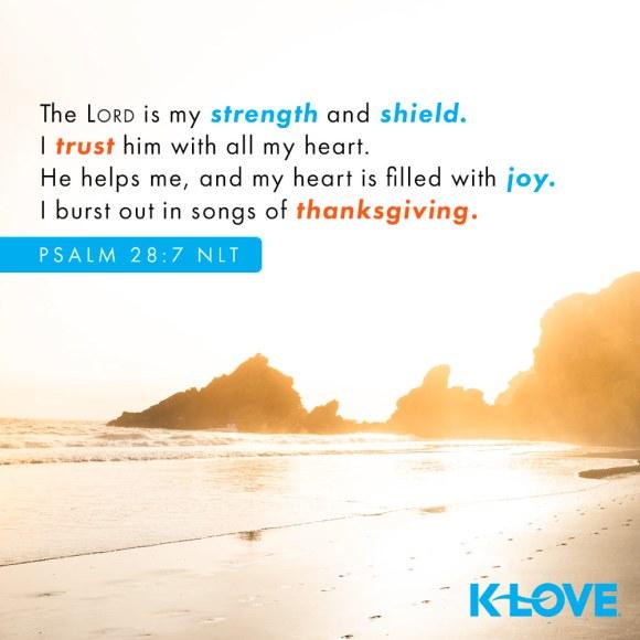 Psalm 28:7 NLT