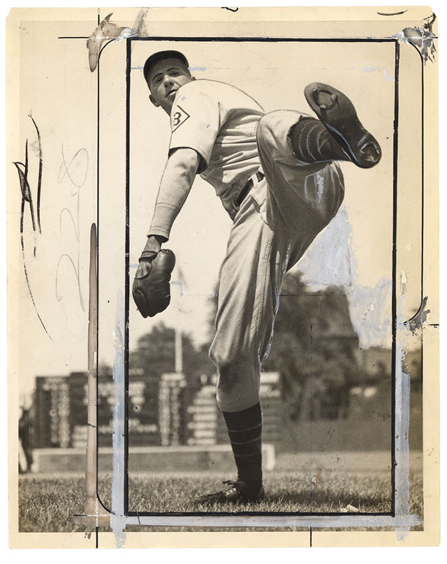 Baseball press photo, circa 1940; Courtesy Pier 24 Photography