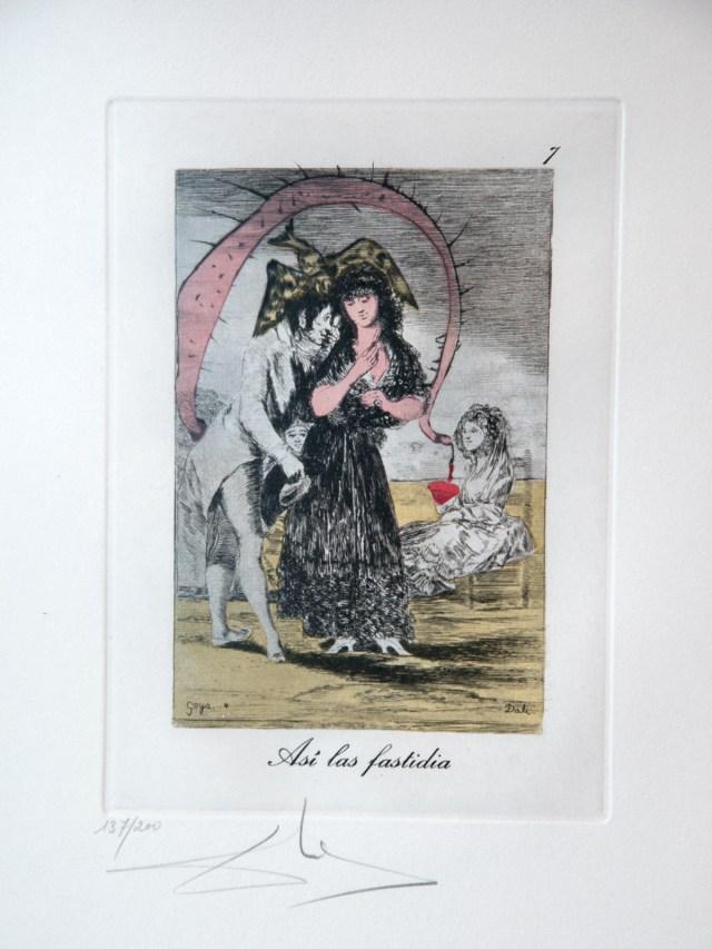 """Asi las fastidia,"" a reworking of Francisco Goya by Salvador Dalí."