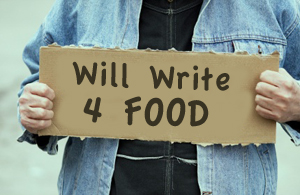 Image result for will write for food
