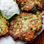Summer Decadence: Crispy Zucchini Fritters with Lemony Yogurt-Herb Dip