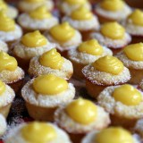 New Year's Eve Appetizers: Mini Meyer Lemon Curd Cupcakes