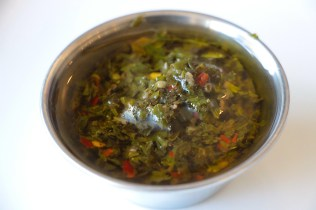 Traditional chimichurri sauce.