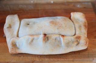 The vegan empanada, whose main ingredient is Yves Meatless soy-based meat substitute.