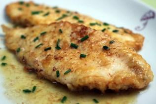 Flounder with Lemon Butter