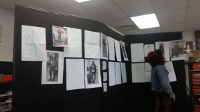 During a halfway point critique students compare their mock-ups to photo references.