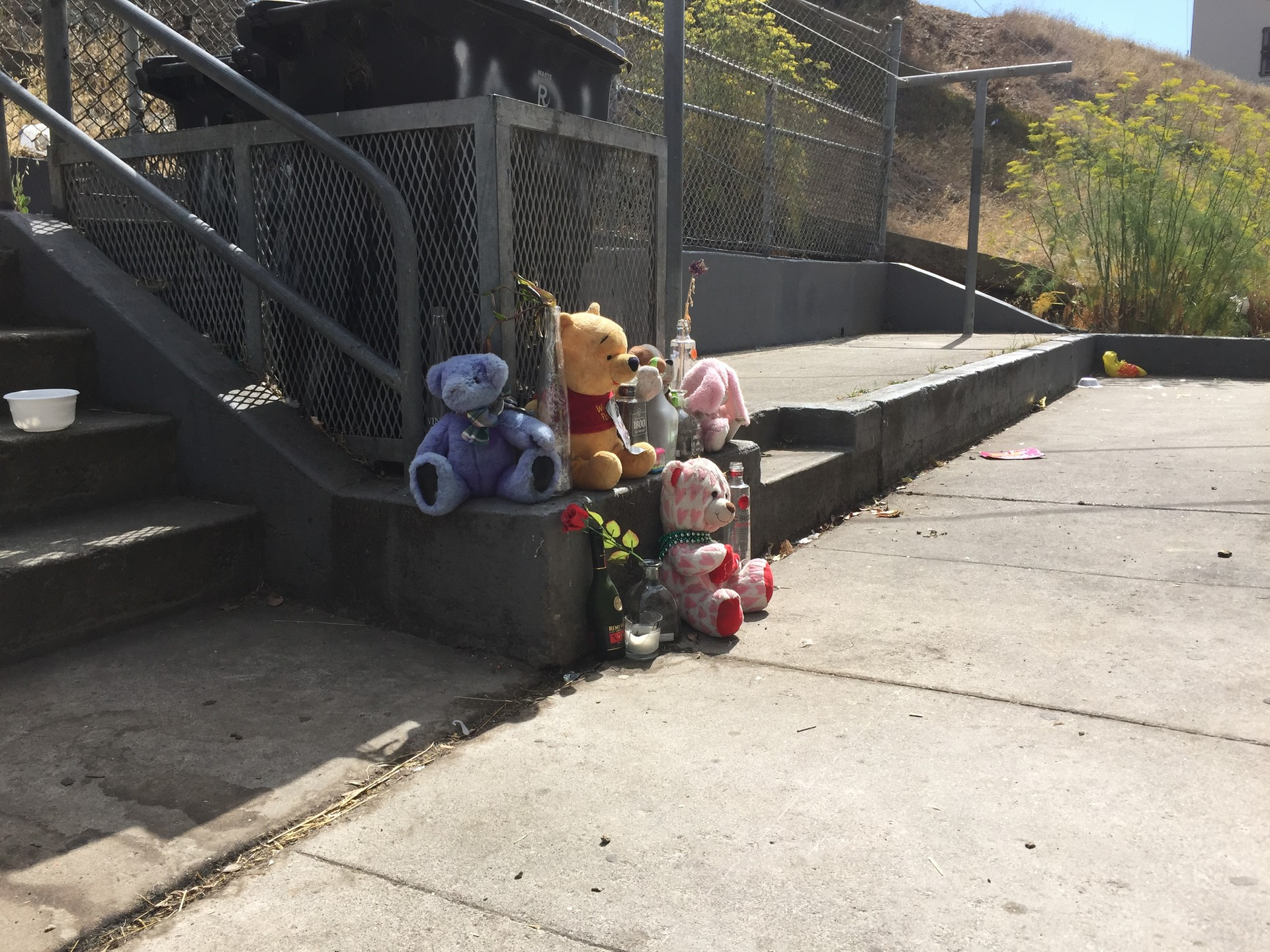 A shrine on the 1000 block of Connecticut Street, in Potrero Terrace.