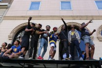 DubNation packed the parade route in downtown Oakland to celebrate an NBA title.