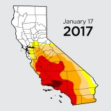 California Drought Retreats During Winter Rain Storms