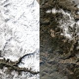 Before-and-After Photos of Sierra Show Snow Levels Worse Than During Drought