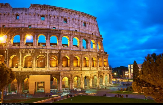 Rome, Colosseum at Night