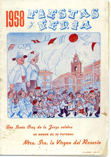 Programa Fiestas 1.958 - Portada