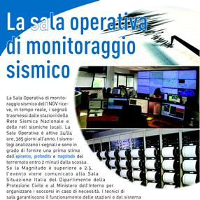 La sala operativa di monitoraggio sismico