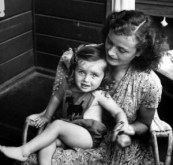 Gretel Braun Fegelein sister of Eva Braun holding her daughter Eva1