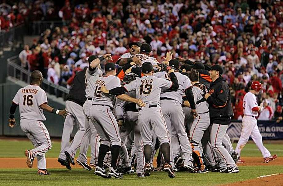 Image result for giants win pennant 2010