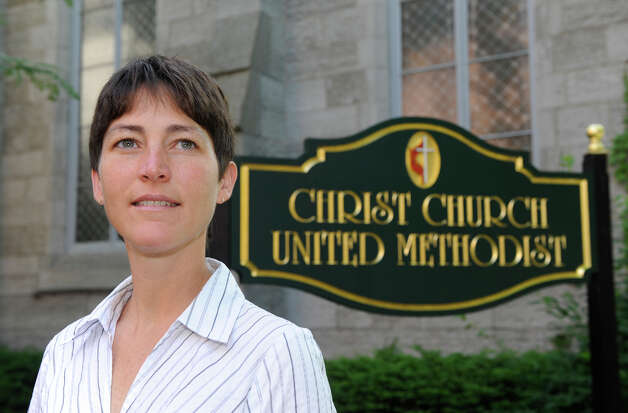 Rev. Nina Nichols, pastor of Christ Church United Methodist, in front of her church in Troy, N.Y., June 15, 2010. (Skip Dickstein/Times Union archive) Photo: Skip Dickstein / 2008