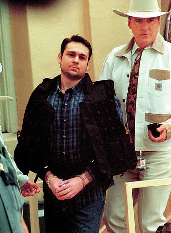 Convicted murderer Bill King received the death penalty for the death of James Byrd, Jr. on Thursday at the Jasper County Courthouse. Shown being escorted to his transport to Huntsville, Texas for delivery to Death Row by Sheriff Billy Rowles. Enterprise file photo
