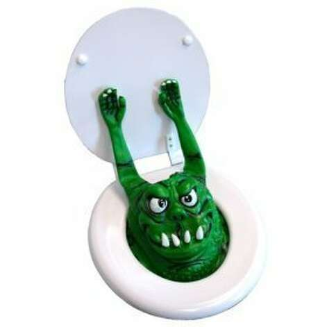 TOILET MONSTER: Ahhhhh! No need for a toilet after you scare your guests with this oddity. (View on Amazon.) / SL