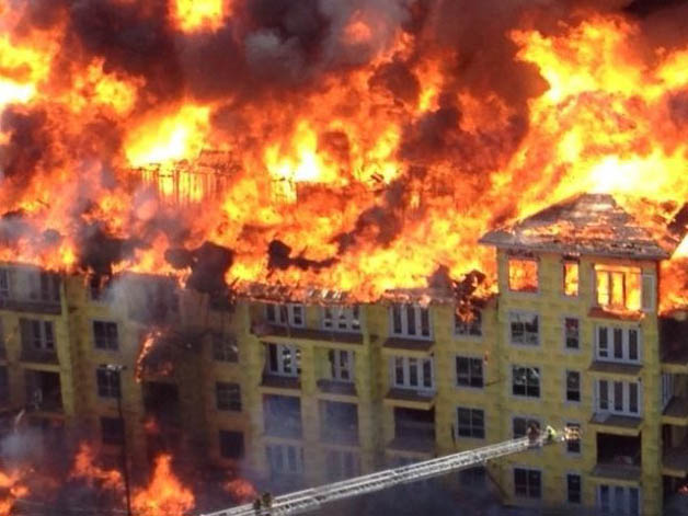 Spotlight On Houston Apartment Fire Shifts To Construction