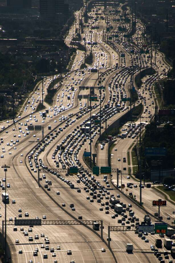 Click through to see stunning aerials of Houston's busiest highways.Traffic on the IH-10 Katy Freeway viewed facing west near Loop 610 on Thursday, April 11, 2013, in Houston. ( Smiley N. Pool / Houston Chronicle ) Photo: Smiley N. Pool, Houston Chronicle