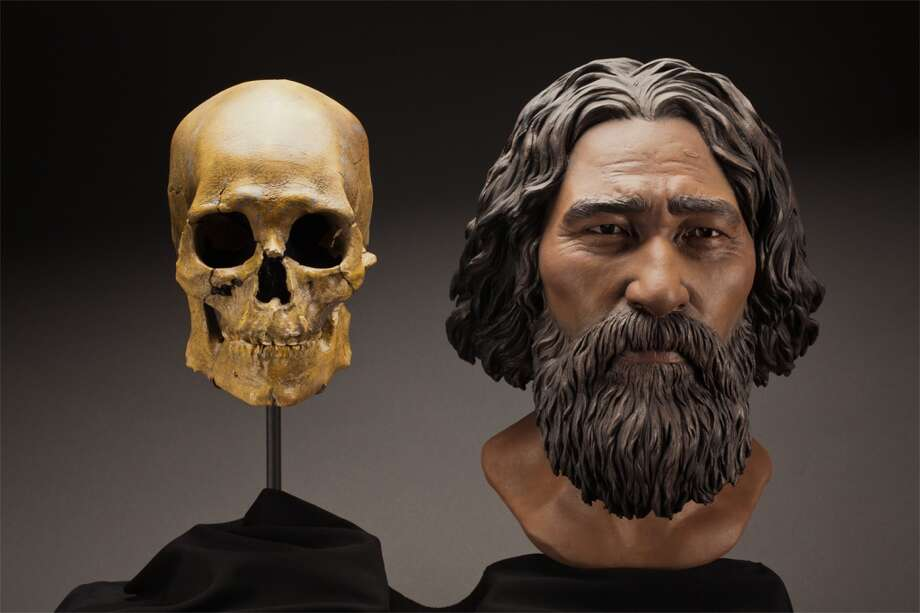 "This clay facial reconstruction of Kennewick Man or ""the Ancient One"" was carefully sculpted around the morphological features of his skull, and lends a deeper understanding of what he may have looked like nearly 9,000 years ago. The remains will be repatriated to Columbia Basin tribes for traditional burial under legislation passed by Congress. Photo: Brittney Tatchell, Smithsonian Institution"