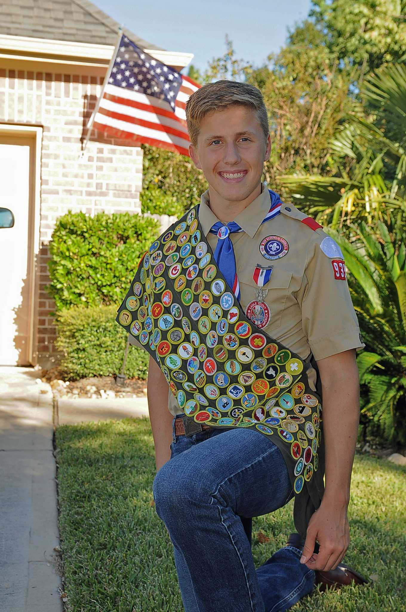 Cypress Eagle Scout Earns Every Merit Badge Available