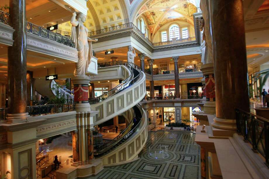 The Forum Shops at Caesars Palace in Las Vegas features stores from high-end retailers.  Lobbyist added 54 words to a government spending bill that temporarily preserves a loophole allowing hotel, restaurant and gaming industries to put real estate in trusts and avoid taxes. Photo: JIM WILSON, STF / NYTNS