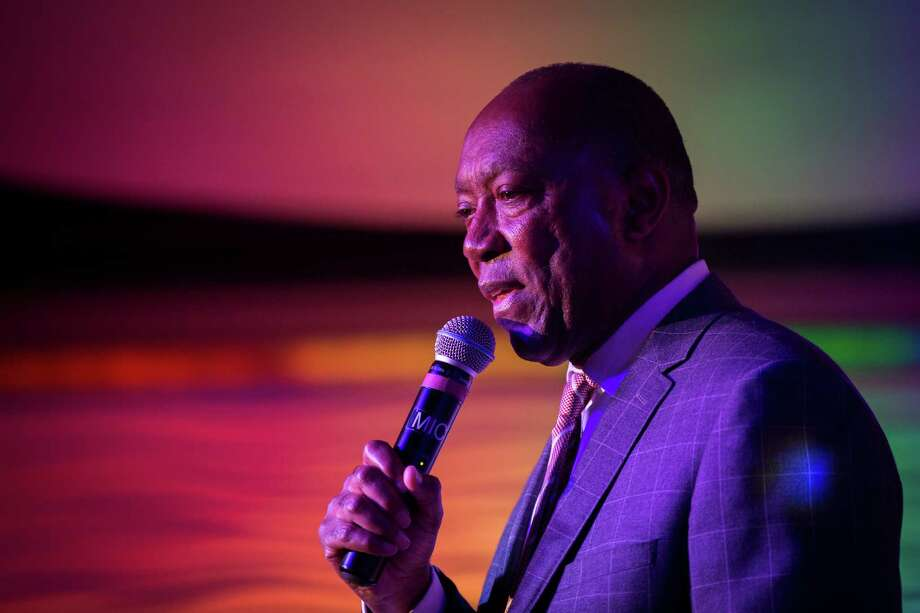 In June, Houston Mayor Sylvester Turner urged Houstonians to support the Pride Houston events, promising tighter security in the wake of the Orlando, Fla., shootings.  Photo: Marie D. De Jesus, Staff / © 2016 Houston Chronicle