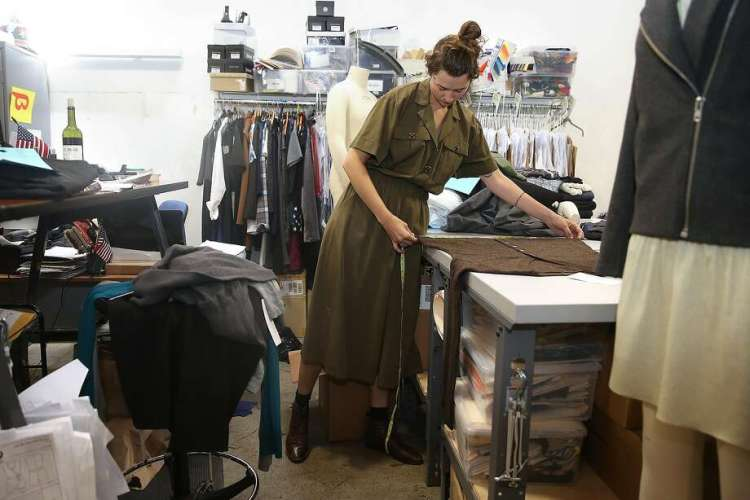 Technical designer and pattern maker Morgan Brown specing a garment at Betabrand. Photo: Liz Hafalia, The Chronicle