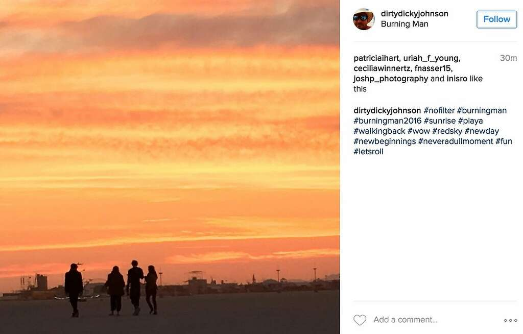 The sunsets have been terrific. Photo: Instagram Screenshot