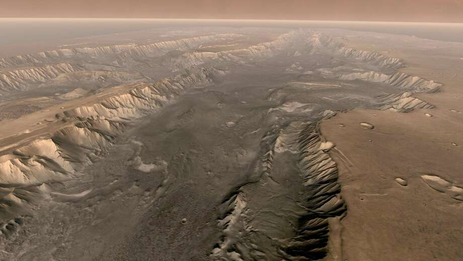 Image result for A depression area on Mars now being looked for new life