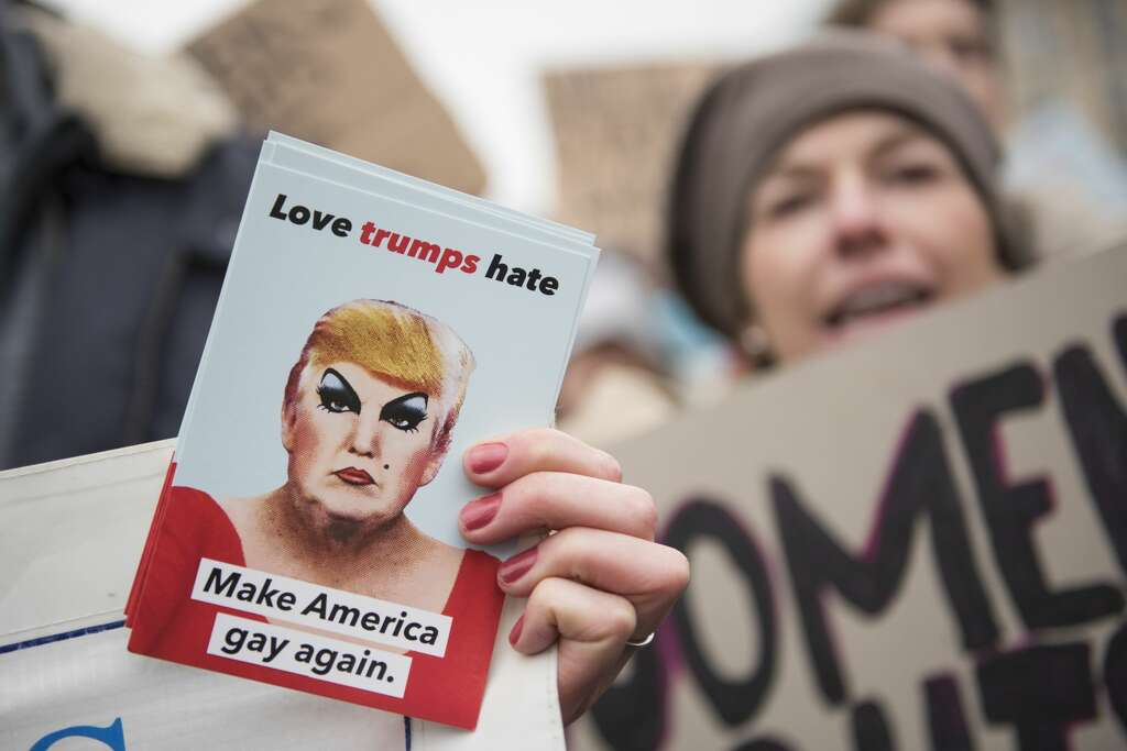 Image result for make america gay again washington women's march