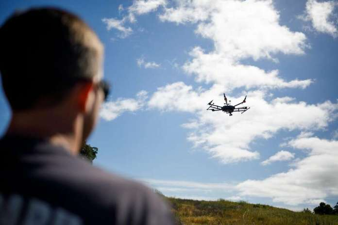 """The Federal Aviation Administration has issued an advisory warning drone operators not to fly """"in or near fireworks"""" or over people. Photo: Mason Trinca, Special To The Chronicle"""