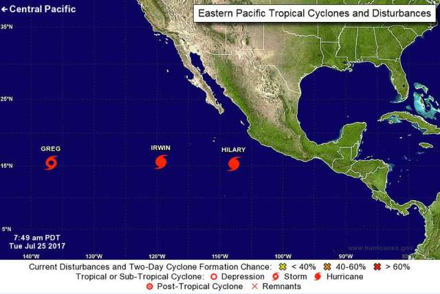 Image result for 2 hurricanes in pacific