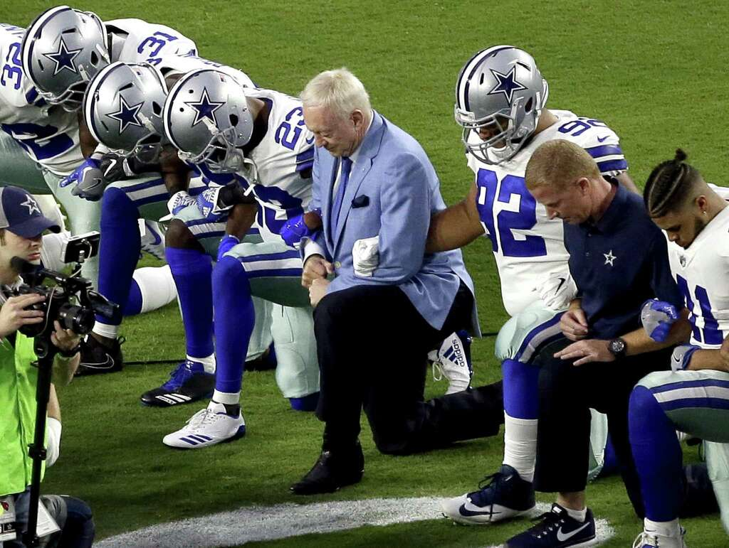 Image result for Jerry Jones Says Any Cowboys Player Who 'Disrespects' the Flag Won't Play