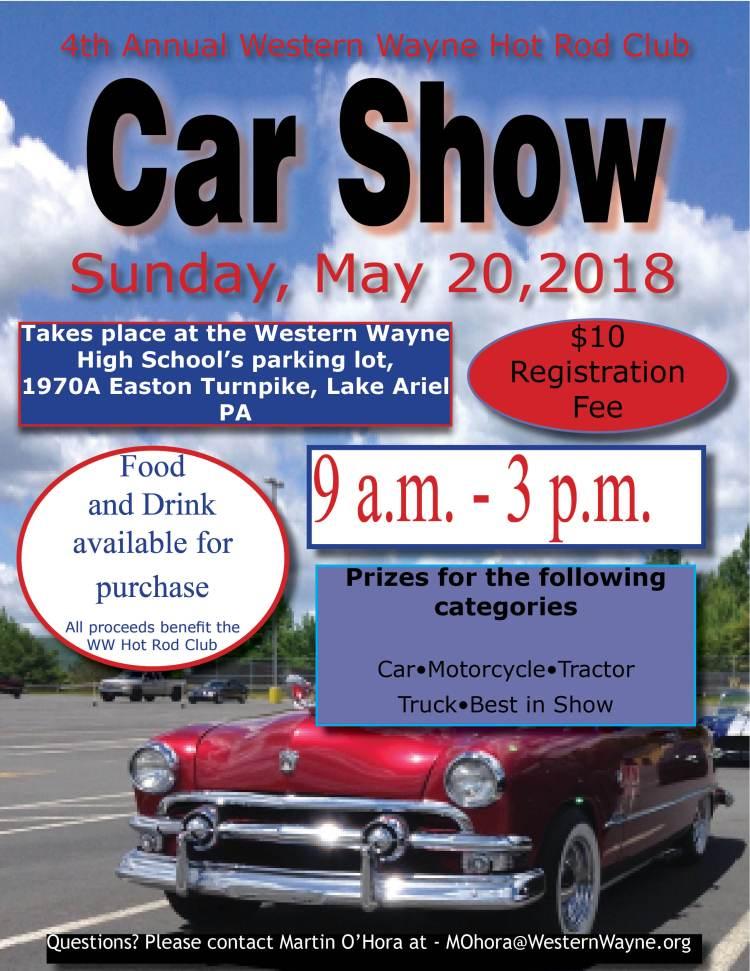 Th Annual Hot Rod Club CAR SHOW May Th Western Wayne School - Car show categories