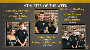 Athletes of the Week – September 10, 17, and 24
