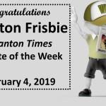 Frisbie Named Athlete of the Week by Scranton Times