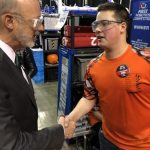 FRC 4285 Camo-Bots Meet Governor Wolf at Regional Robotics Competition