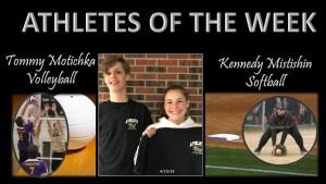 Motichka & Mistishin Athlete's of the Week for week of April 15, 2019