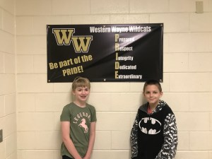 Western Wayne Middle School Recognizes Outstanding Sixth Graders for October
