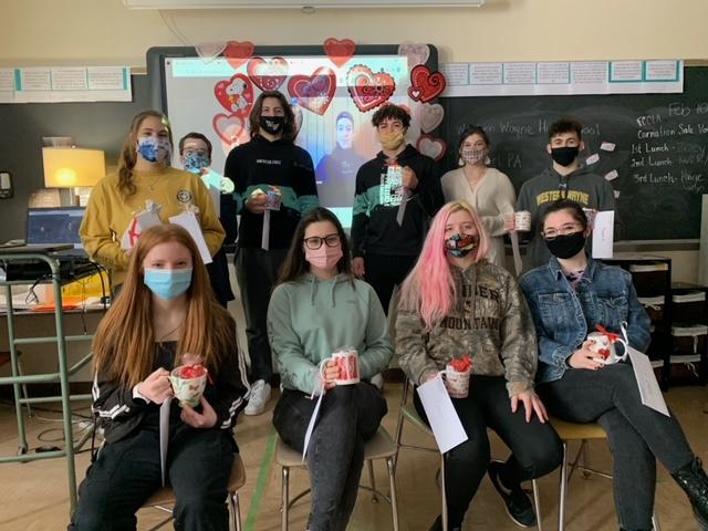 Western Wayne FCCLA Corresponds With Nursing Home Residents for Valentine's Day