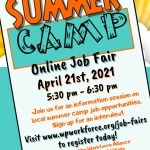 Online Job Fair for Local Summer Camps