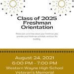 Freshman Orientation – August 24, 2021