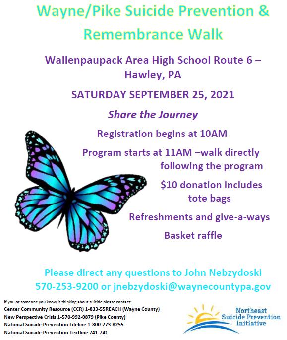 Wayne/Pike Suicide Prevention & Remembrance Walk