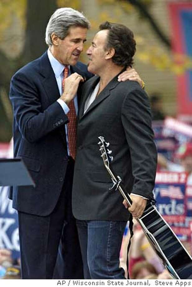 Springsteen Rallies Kerry Faithful Bush Calls Opponent A Manipulator POLITICS IN THE USA