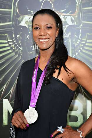 "Olympic Vollyball player Danielle Scott-Arruda arrives at Lionsgate Films'""The Expendables 2"" premiere on August 15, 2012 in Hollywood, California.  (Frazer Harrison / Getty Images) / SF"